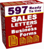 Thumbnail *NEW* 597 Ready To Use Sales Letters and Business Forms  With Resale Rights