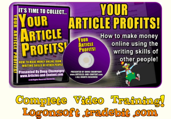 Pay for Your Article Profits!  Videos Training