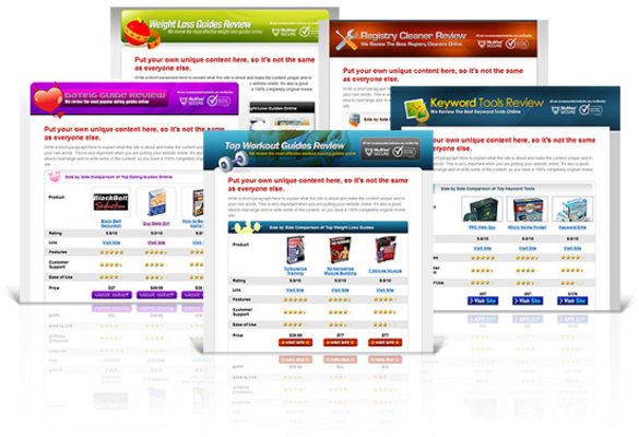 Pay for NEW! 10 Product Review Affiliate Websites With MRR