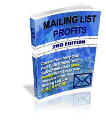 Pay for *NEW* MAILING LIST PROFITS! Master Resale Rights Included.