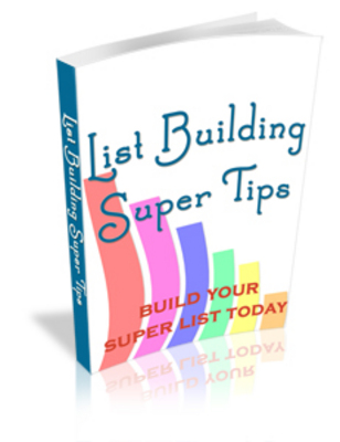 Pay for **NEW** List Building Super Tips With Master Resale Rights