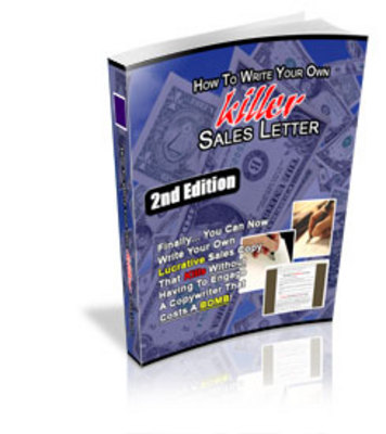 Pay for **NEW** How To Write killer Sales Letter 2nd Edition With Master Resale Rights
