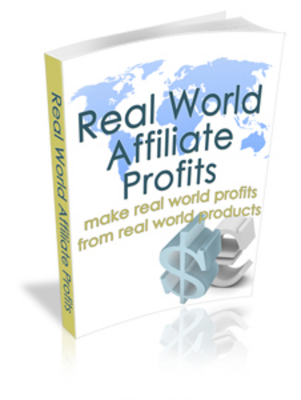 Pay for **NEW** Real World Affiliate Profits  With Master Resale Rights
