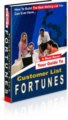 Pay for **NEW** Build Your Customer Mailing List Fortunes  With Master Resale Rights