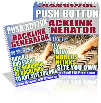 Pay for *NEW* The Push Button Backlink Generator  ! Master Resale Rights Included.