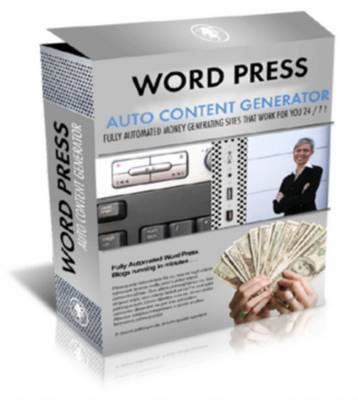 Pay for *NEW* Wordpress Auto Content Generator With Master Resale Rights