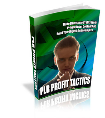 Pay for *NEW* PLR Profit Tactics - Make Handsome Profits Off Private Label Content  ! Private Labels Rights Included.