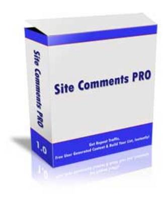 Pay for *NEW* Site Comments Pro  With Master Resale Rights
