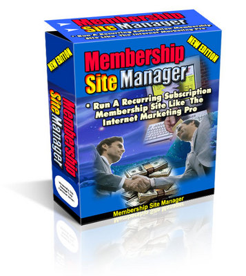 Pay for *NEW* Membership Site Manager  ! Master Resale Rights included