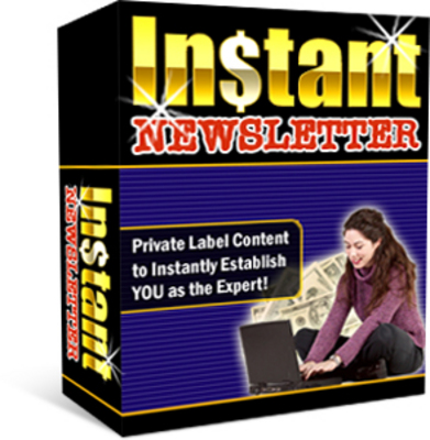 Pay for *NEW* Instant Newsletter With Resale Rights