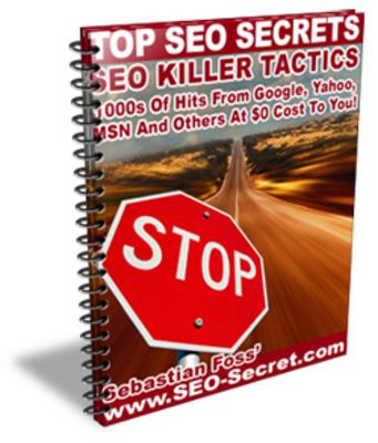 Pay for Top SEO Secrets - SEO Killer Tactics