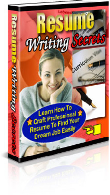 Pay for *NEW* Resume Writing Secrets With Private Labels Rights