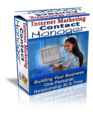 Pay for Internet Marketing Contact Manager With Master Resale Rights