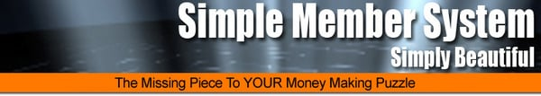 Pay for HOT!* Simple Member System With Master Resell Rights.