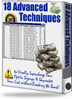 Pay for 18 Advanced Techniques to Traffic & Opt-in Subscribers
