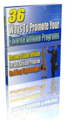 Pay for 36 Ways To Promote Affiliate Programs With MRR