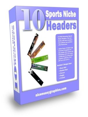 Pay for 10 Sports Niche Headers