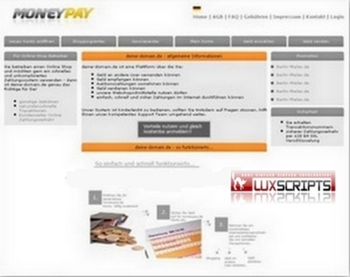 Pay for MoneyPay Script - Online Payment System inkl. Tan Verfahren