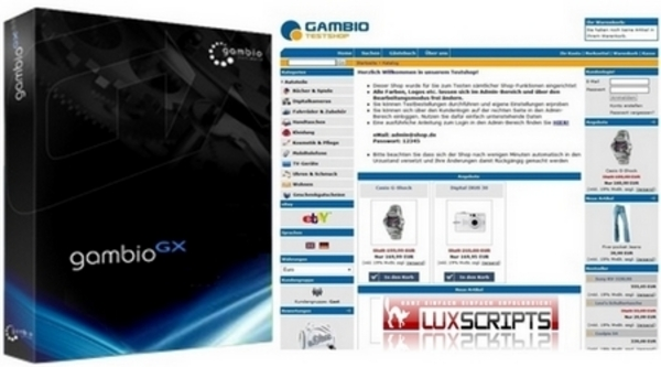 Pay for Gambio GX Onlineshop Software inkl. Handbuch & Anleitung