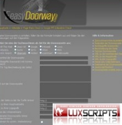Pay for Easy Doorway Creator - Web Suchmaschinenoptimierung Script