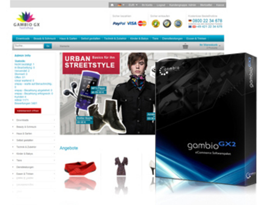 Pay for Gambio GX 2 Webshop Software