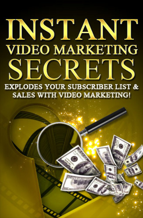 Pay for Instant Video Marketing Secrets-If You Can Record A Simple V