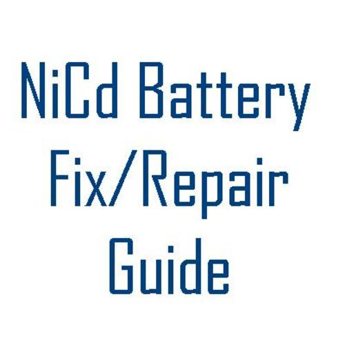 Pay for How To Fix Repair Metabo NiCd Battery - NiCad rebuilding Guide