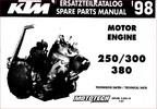 Thumbnail KTM 250,300,380 engine parts manual. 1998