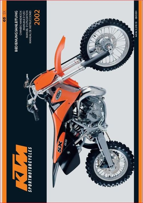 Pay for KTM 65sx owners manual