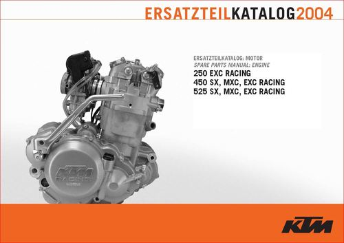 Pay for KTM 250,450,525, sx,mxc,exc engine parts book. 2004