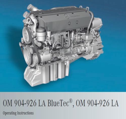 Mercedes Om926la And 904la Operating Instructions Download Manual