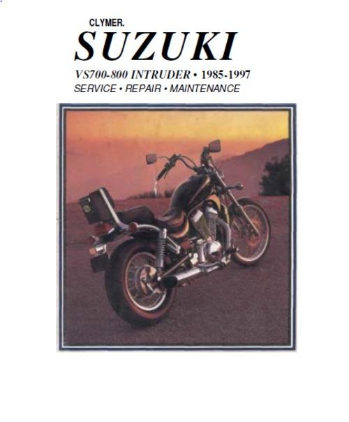 suzuki vs700  vs800 service manual  1985-97