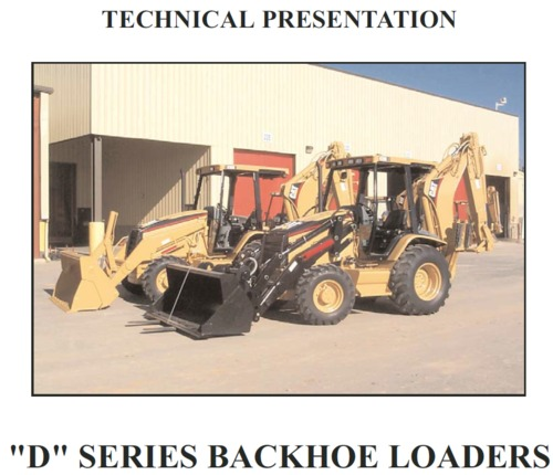Pay for Cat D series backhoe loader service training
