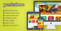 Thumbnail Pekaboo Children Theme Template for WordPress