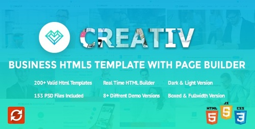 Pay for Creativ Business HTML5 Template with Page Builder v.2.0