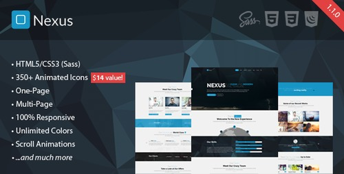 Pay for Nexus - Responsive Multipurpose HTML5 Template v.1.0.0