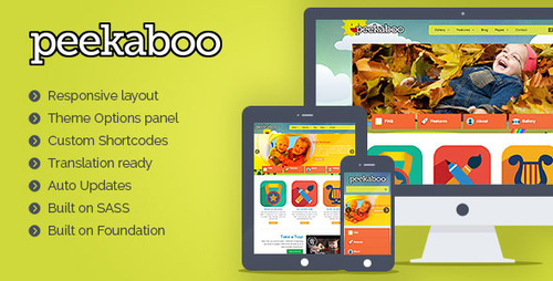 Pay for Pekaboo Children Theme Template for WordPress