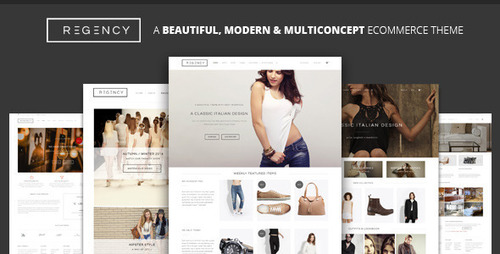 Pay for Regency:2015 A Beautiful & Modern Ecommerce Theme/template
