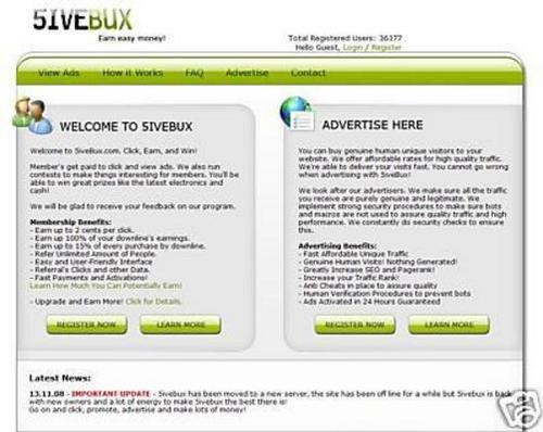 Pay for 5ivebux-script ptc -alerpay and egold paymen