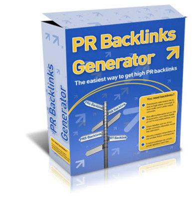 Pay for New PR Backlink generator 2012