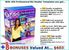 Thumbnail 300 Professional Biz Header Templates package!