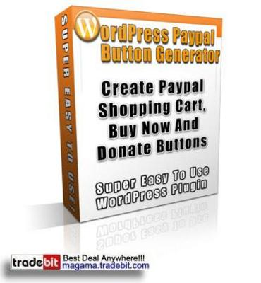 Pay for Wordpress Paypal Button Generator Plugin Script PLR!