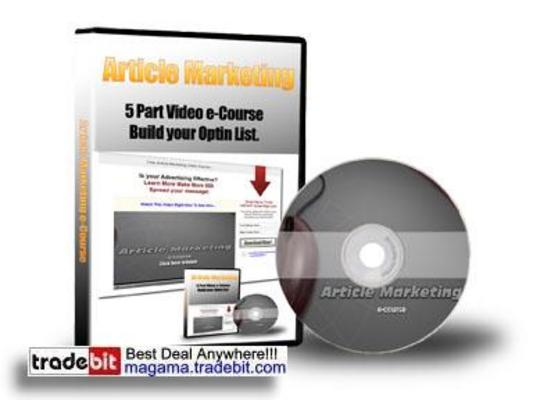 Pay for Article Marketing 5 Parts Video eCourse MRR!