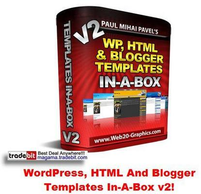 Pay for WordPress, HTML And Blogger Templates In-A-Box v2 MRR!