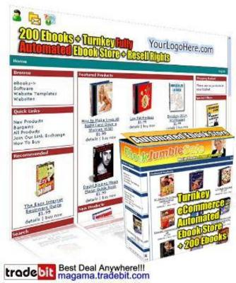 Pay for Automated eCommerce Web Site Ebook Store 200 Pre-Install RR!