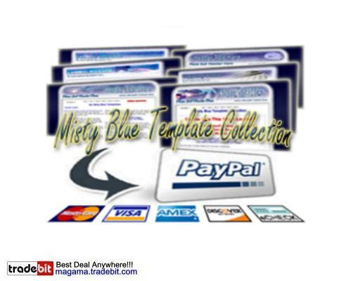Pay for Misty Blue Template Collection PLR!