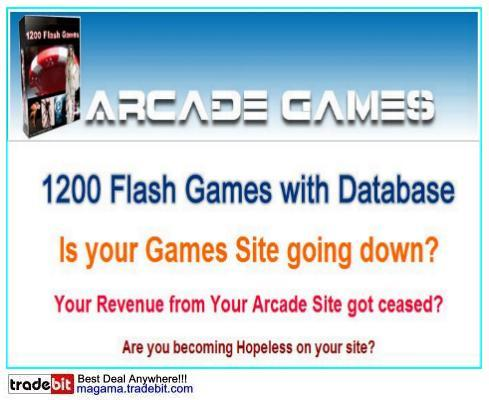 Pay for 1200 Flash Games with Database Package RR!