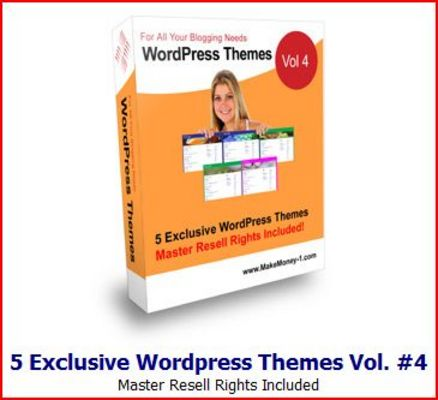 Pay for 5 Exclusive Wordpress Themes Vol 4 MRR