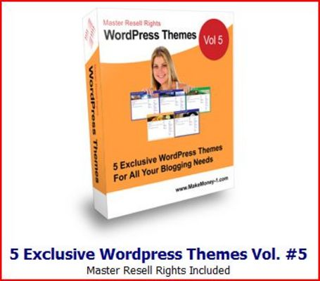 Pay for 5 Exclusive Wordpress Themes Vol 5 MRR
