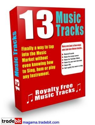 Pay for 13 Music Tracks MRR!